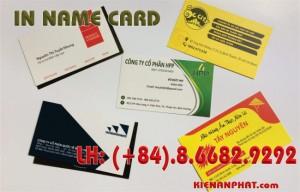 in name card, danh thiếp giá rẻ tại tphcm