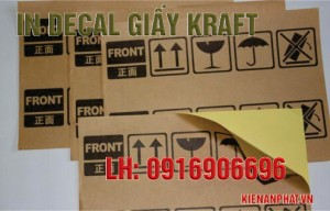 in decal giấy kraft