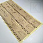 chất liệu decal giấy kraft