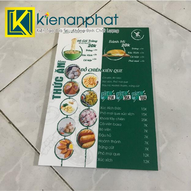 menu cán formex