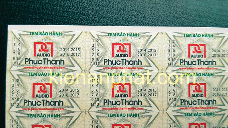 đặc điểm của tem bảo hành