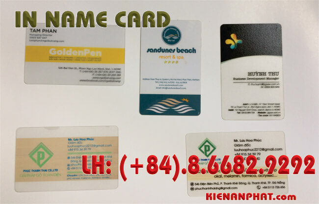 in name card nhựa