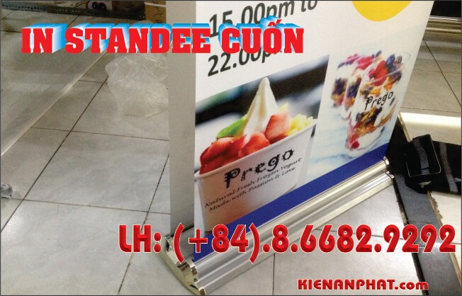 in pp banner standee cuốn