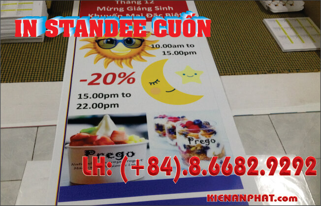 in standee cuốn