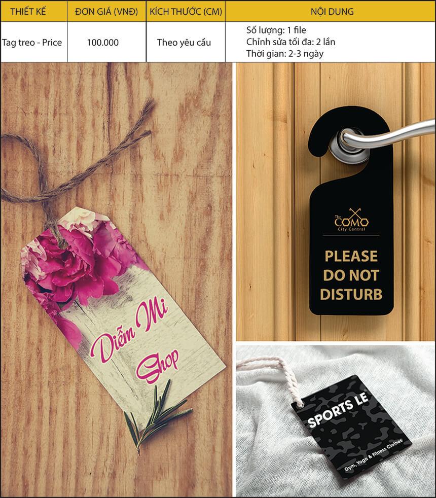 thiết kế tag treo - price